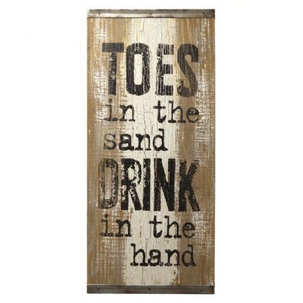50% OFF Rustic pallet style - Toes In The Sand Sign